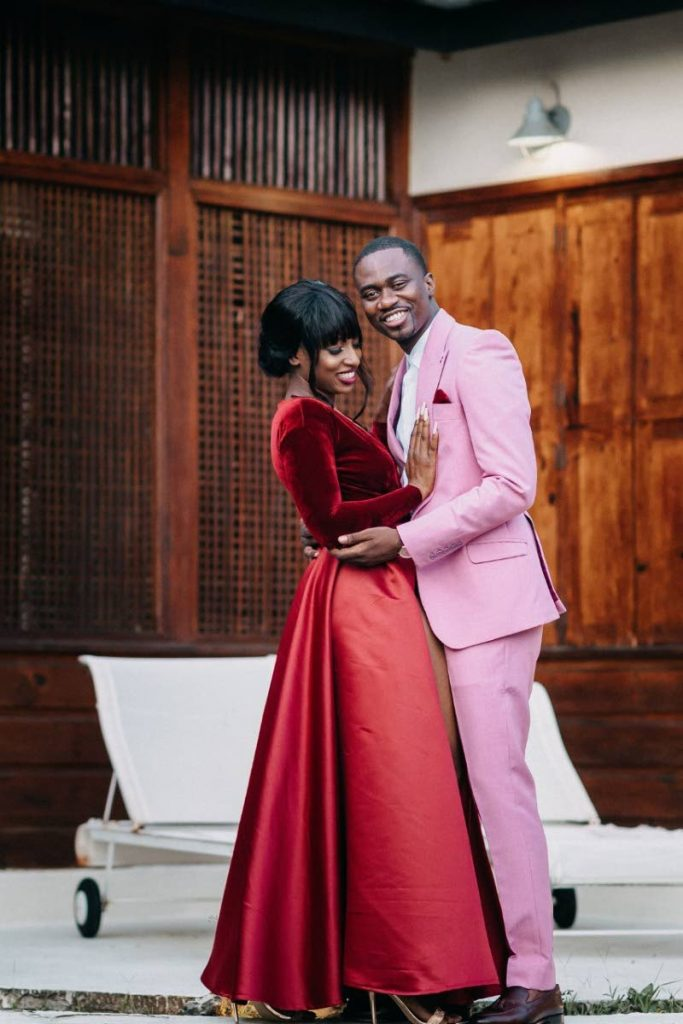 Progressive Democratic Patriots (PDP) deputy leader Farley Augustine, right, and his girlfriend Ana Nedd got engaged on Saturday at Ohana Villa, Bacolet, Tobago. PHOTO BY ASHA MARS WEDDINGS AND EVENTS -