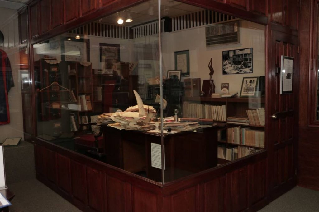 A replica of Dr Williams' Office from the Prime Minister's residence is housed in the collection. -