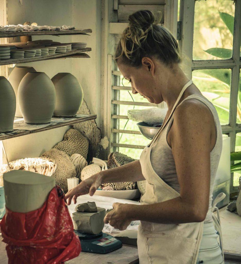 Helen Evans in her studio.  -  Chris Meurer