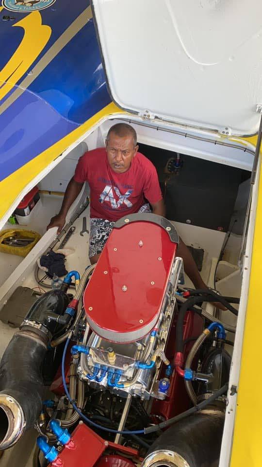 Mr Solo Too mechanic Narace 'Kokie' Ramdhanie.  - TT POWERBOAT ASSOCIATION FACEBOOK PAGE