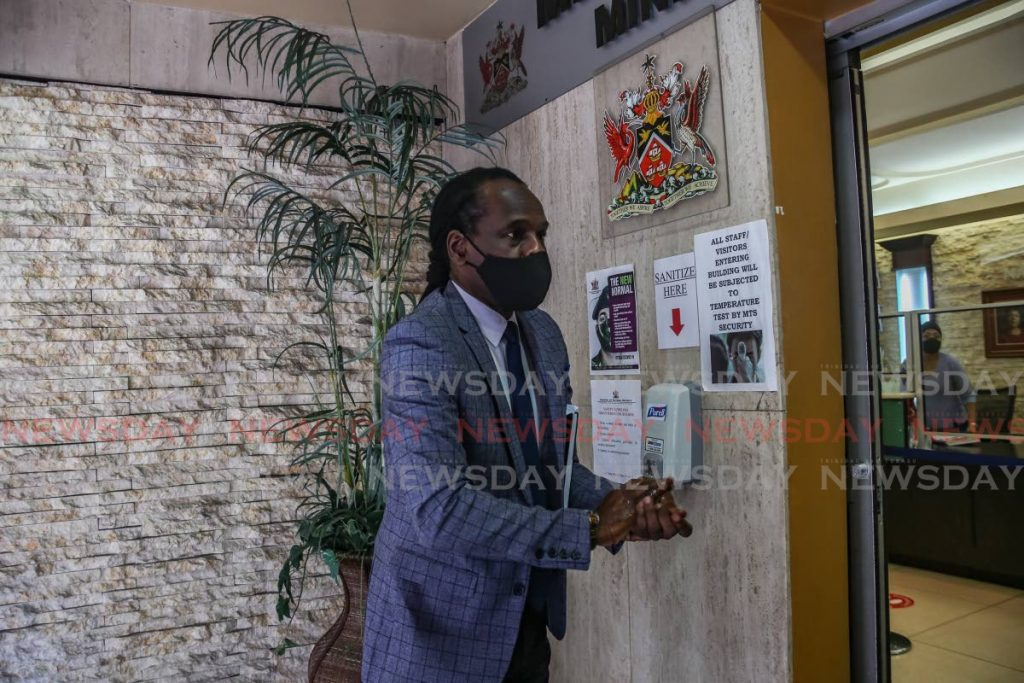 MP Fitzgerald Hinds arrives at his new office to assume his new role as Minister of National Security on Wednesday. - Jeff Mayers