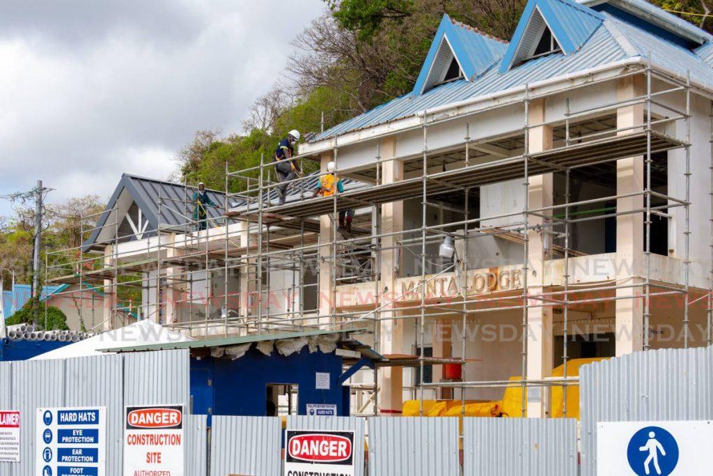 Renovation works under way at Manta Lodge in Speyside. - DAVID REID