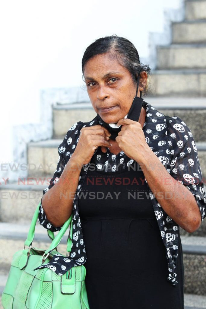Pauline Bharat, mother of murdered six-year-old Sean Luke, testified on Friday from the San Fernando High Court. - Lincoln Holder