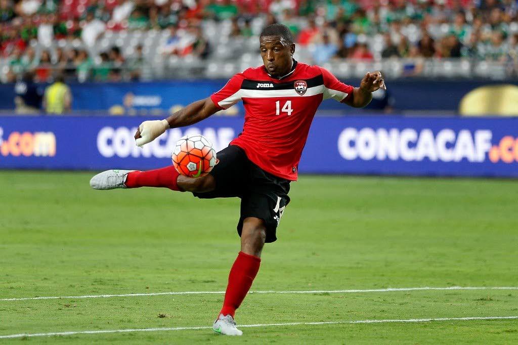 Trinidad and Tobago's Andre Boucaud. - (AFP PHOTO)