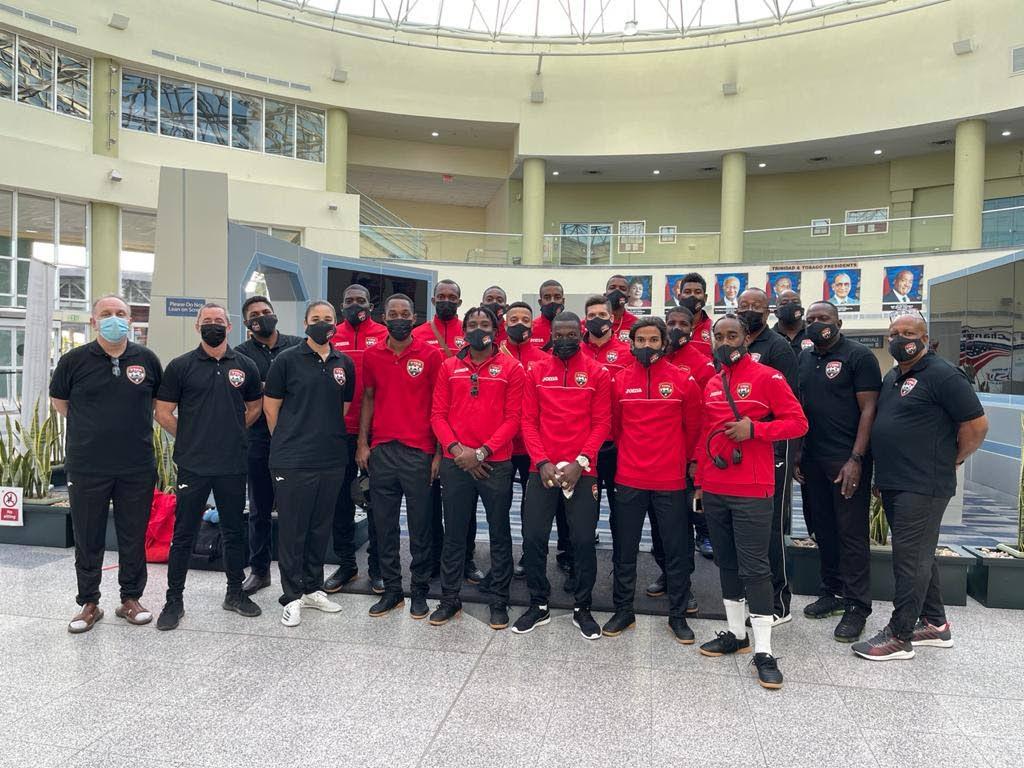 File photo: The men's national futsal team at Piarco International Airport. PHOTO COURTESY TT FOOTBALL ASSOCIATION MEDIA