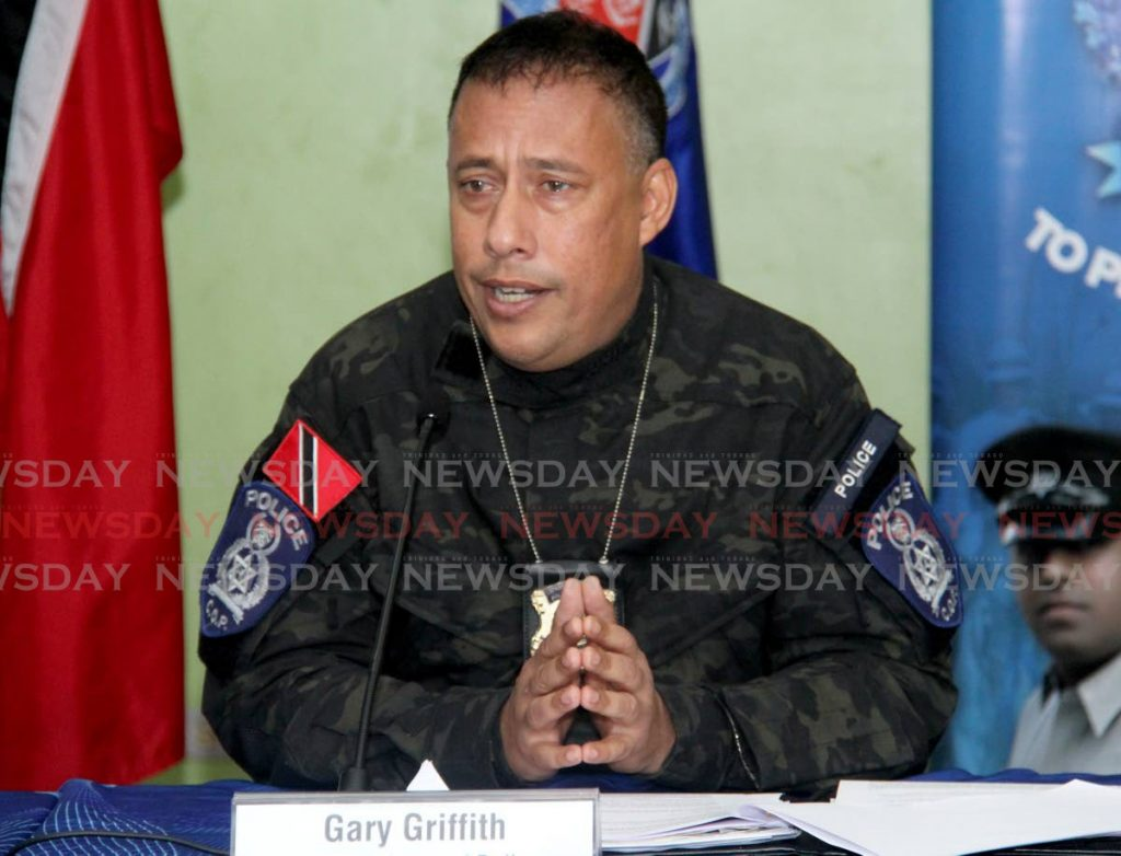 File photo: Commissioner of Police Gary Griffith. Photo by Ayanna Kinsale
