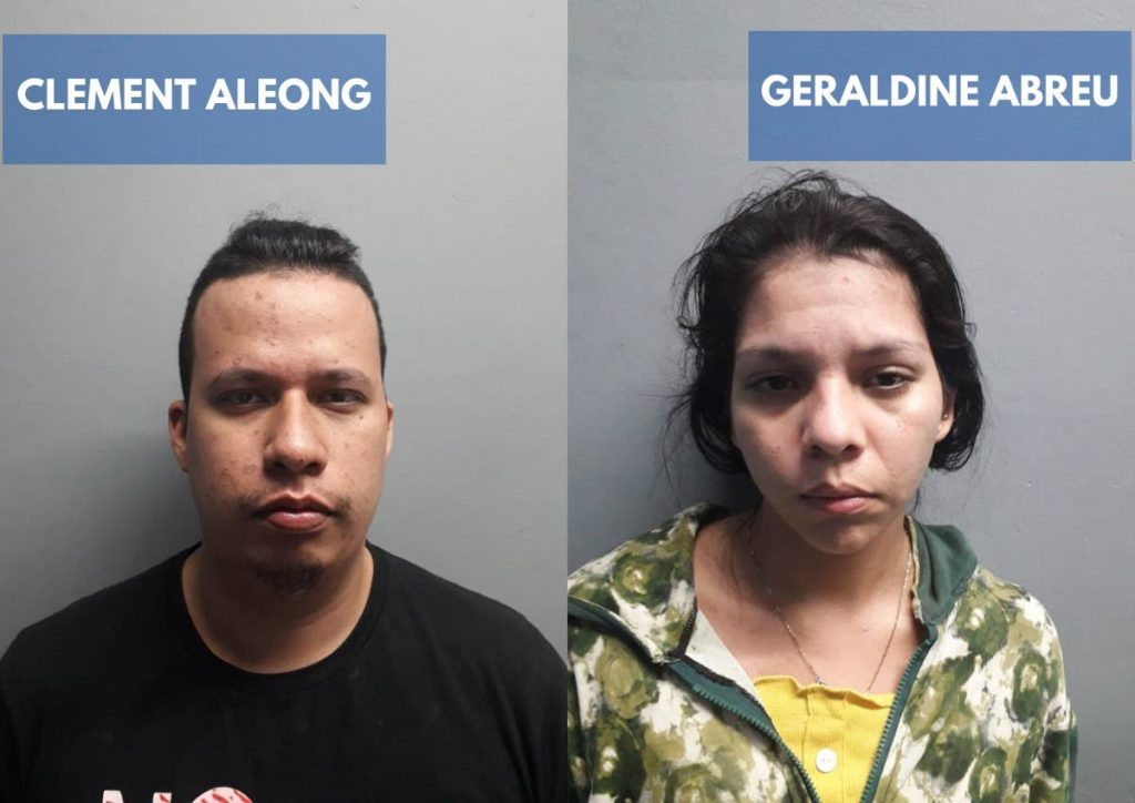 DENIED BAIL: Geraldine Abreu and Clement Aleong were denied bail on Thursday. They are charged with trafficking in persons and false imprisonment.  -