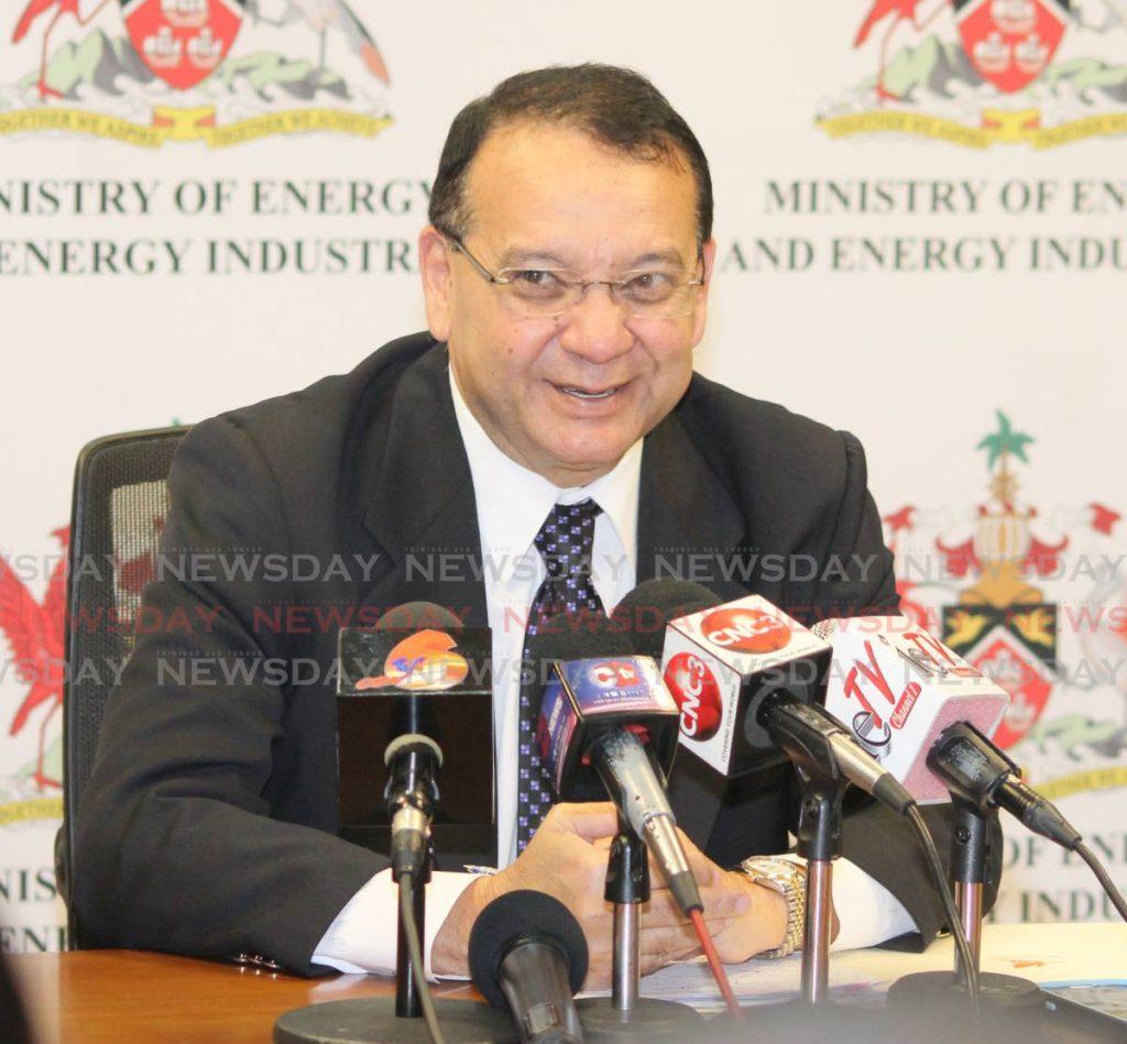 Energy Minister Franklin Khan.  -