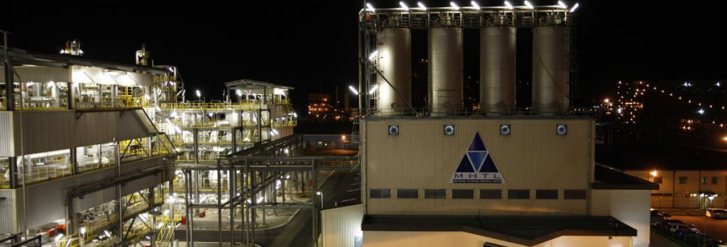 Methanol Holdings (Trinidad) Ltd (MHTL) is one of the largest methanol producers in the world.  -