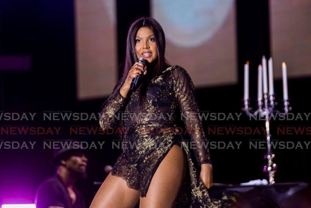 Legendary R&B singer Toni Braxton on the final night of Tobago Jazz Experience 2019 at Pigeon Point Heritage Park. FILE PHOTO/DAVID REID -