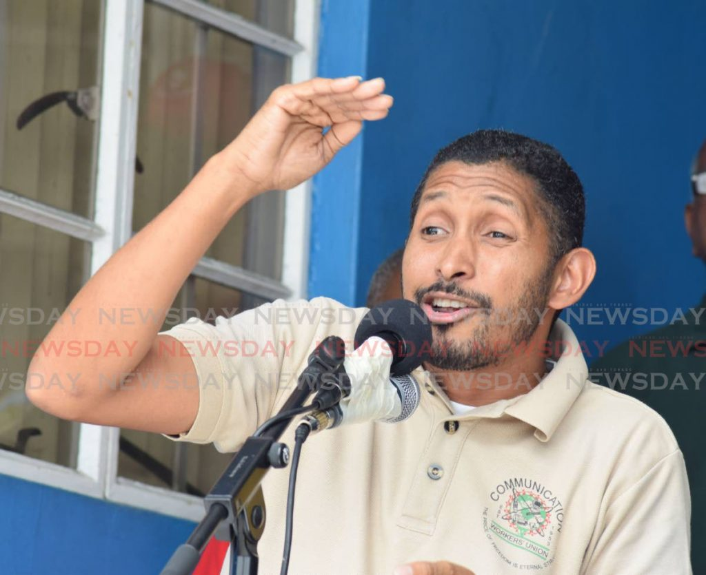 Clyde Elder, secretary general of the Communications Workers Union.  -