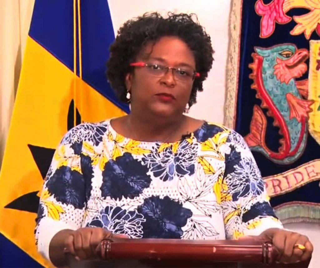 Barbados PM Mia Mottley. -