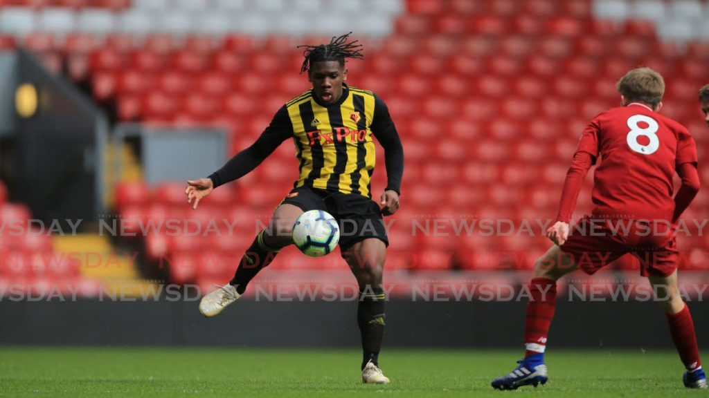 Daniel Phillips (left), during a match for the Watford Academy team. -