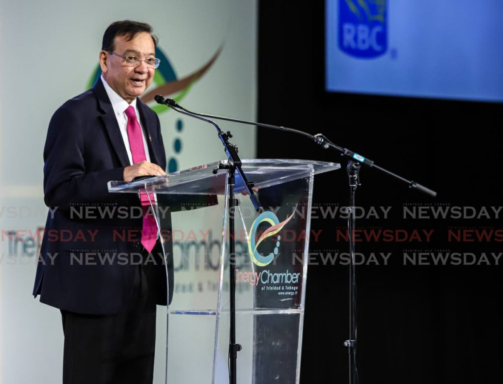 Energy Minister Franklin Khan addresses the Trinidad and Tobago Energy Conference at Hyatt, Port of Spain on February 4, 2020. Photo by Jeff K Mayers -