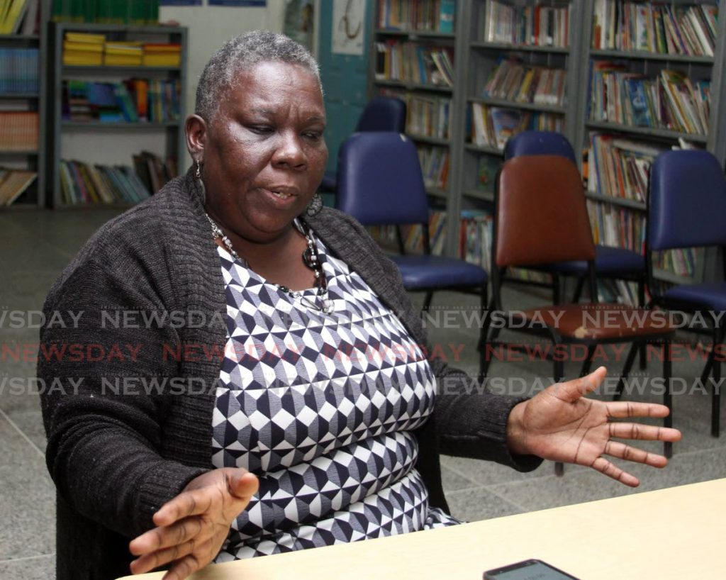 La Horquetta South Government Primary School teacher Rhonda Jones says her students have helped her to learn how to teach them online. PHOTO BY ANGELO MARCELLE -