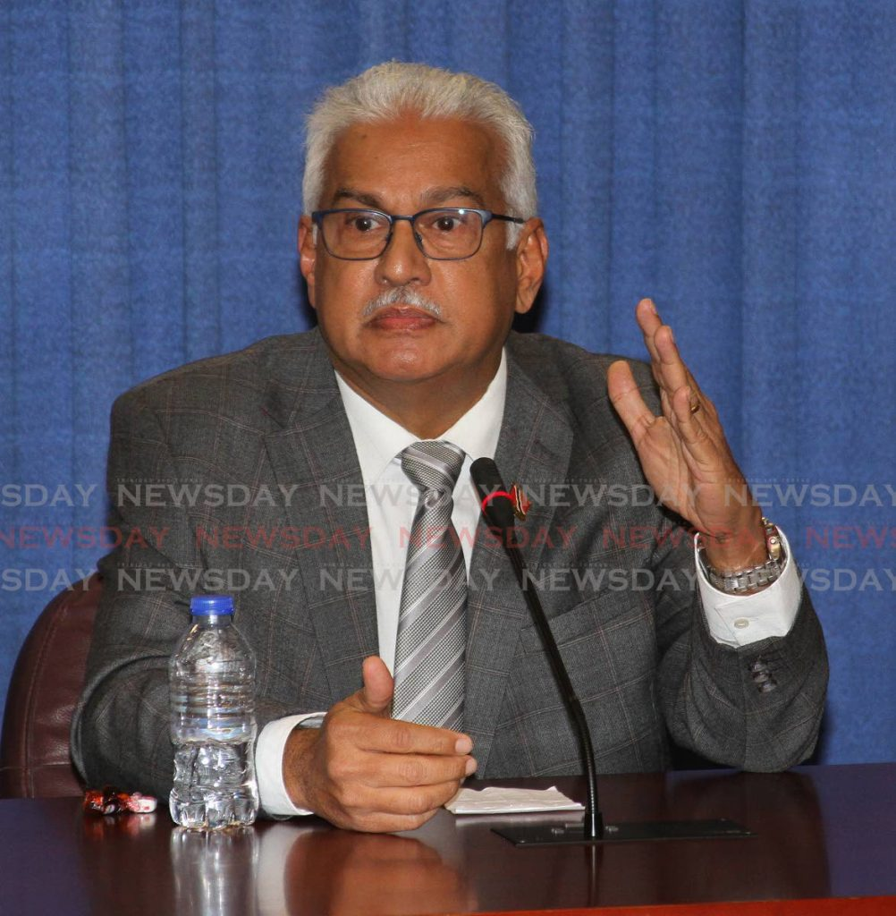 Minister of Healh Terrence Deyalsingh. File photo by Angelo Marcelle