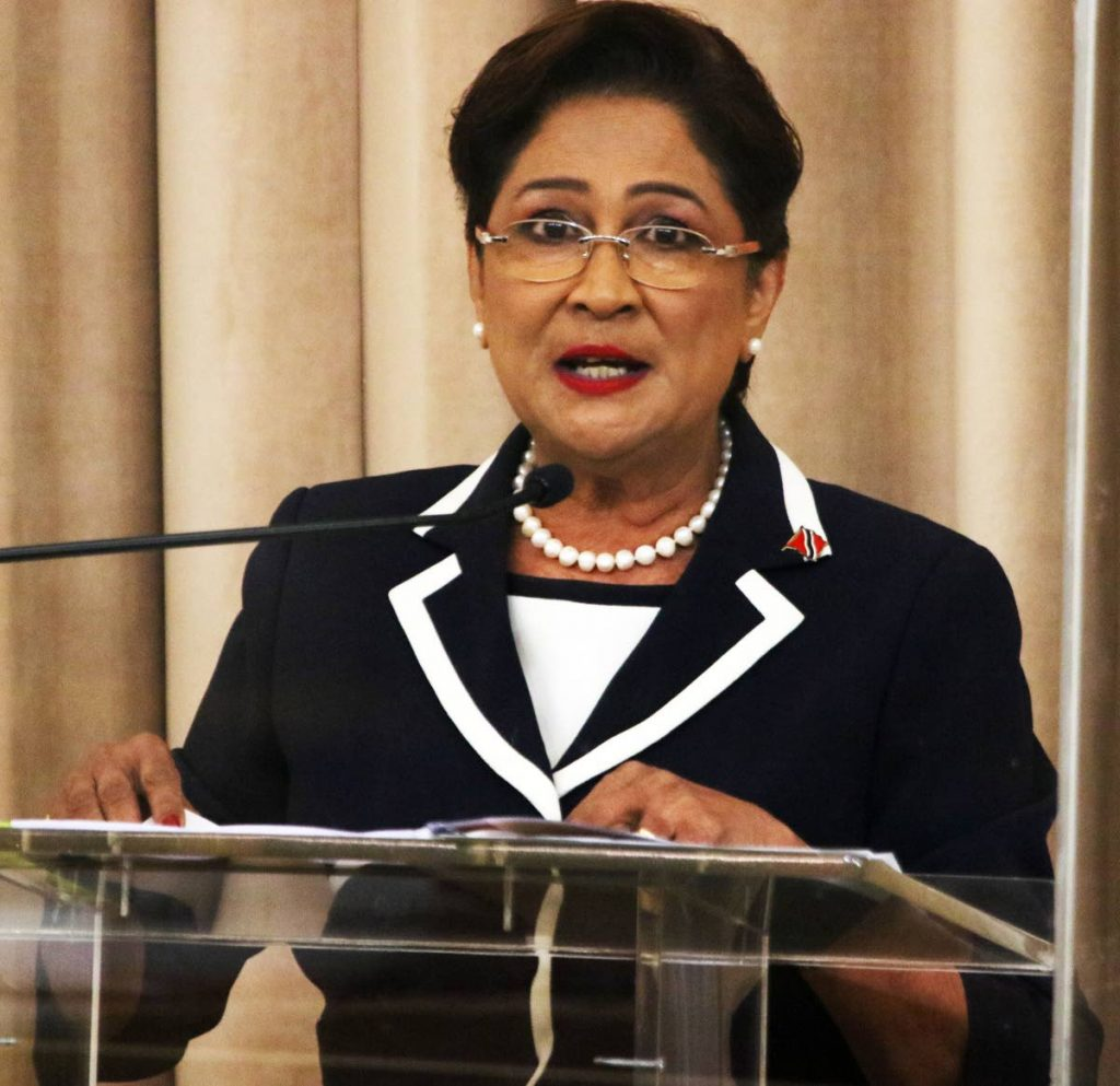 Opposition Leader Kamla Persad-Bissessar.