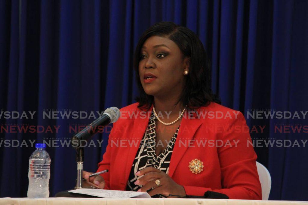 File photo: Health Secretary Tracy Davidson-Celestine