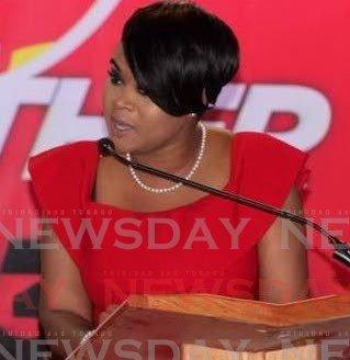 Tobago West MP Shamfa Cudjoe -