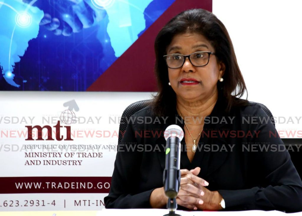Trade and Industry Minister Paula Gopee-Scoon. - SUREASH CHOLAI