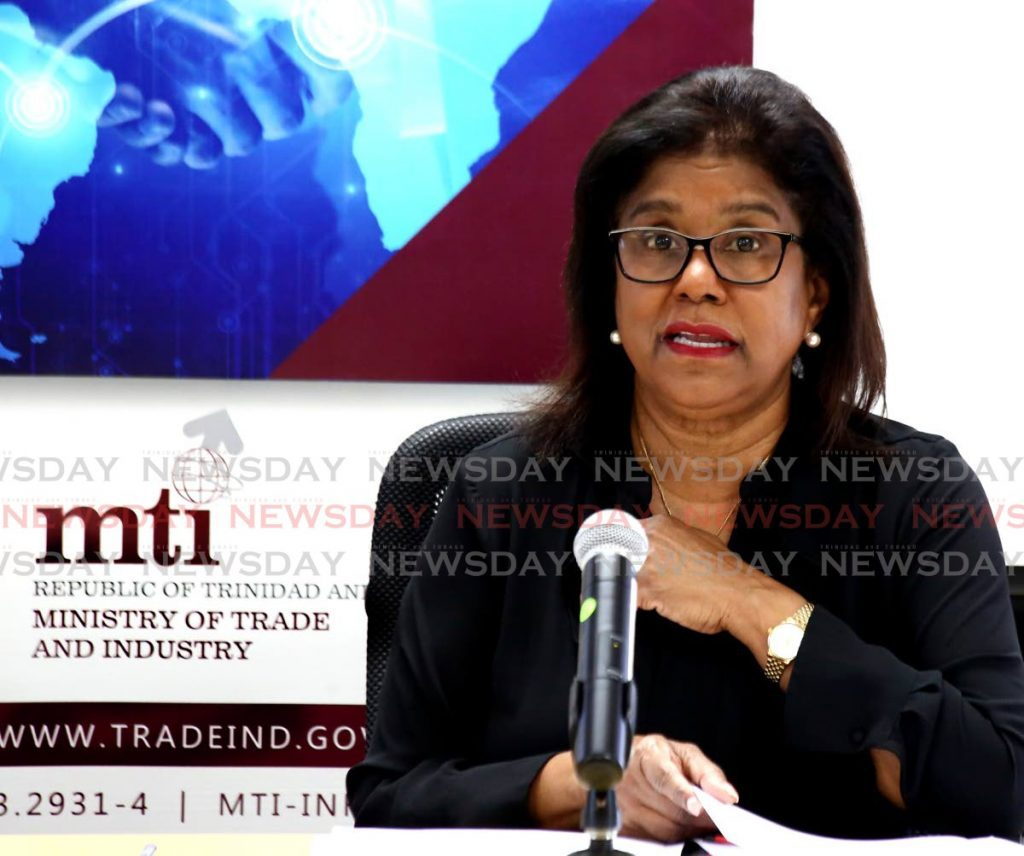 Minister of Trade and Industry Paula Gopee-Scoon