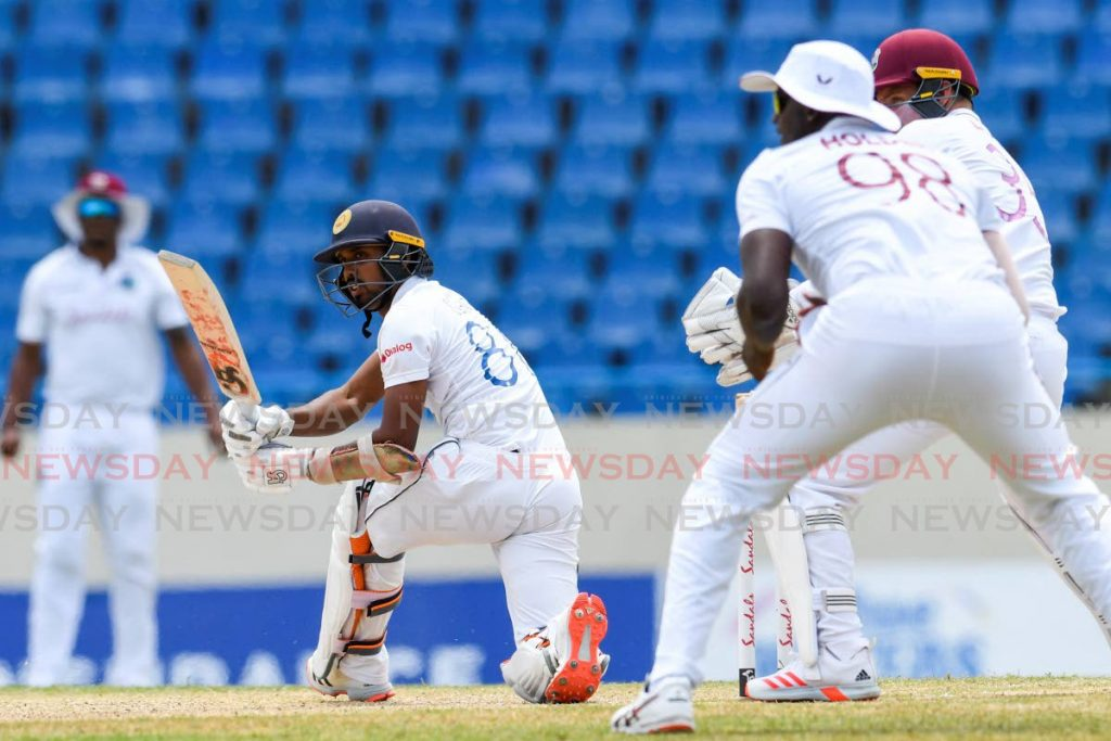West Indies cricket team in action against Sri Lanka. - (AFP PHOTO)