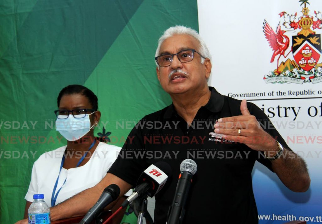 Minister of Health Terrence Deyalsingh. Photo by Ayanna Kinsale