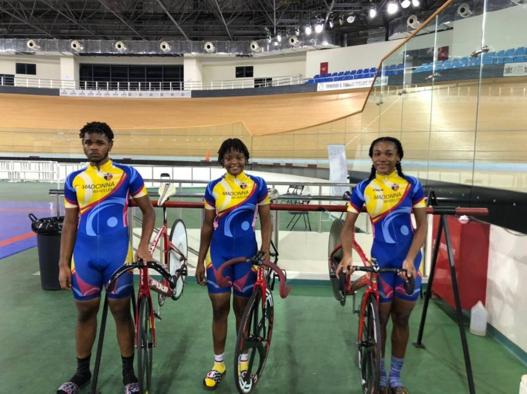 Madonna Wheelers trio (left to right), Raul Garcia, Phoebe Sandy and Makayla Hernandez -