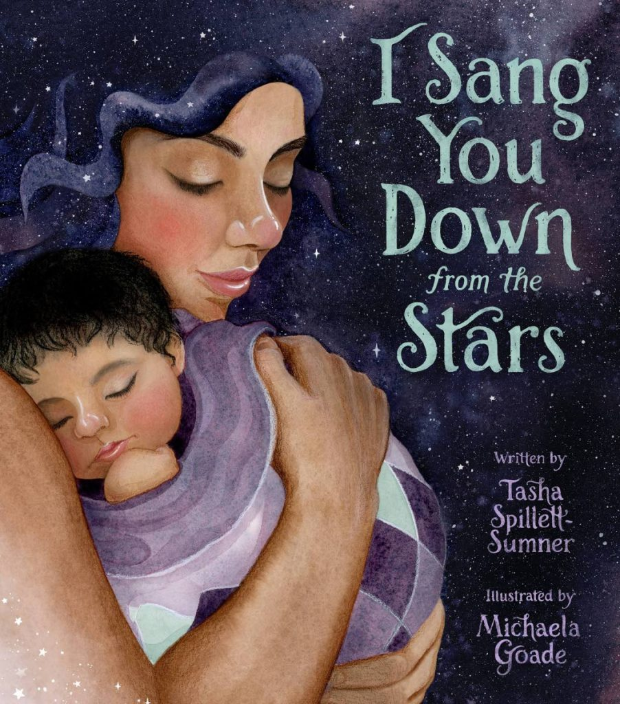 The cover of the picture book, I Sang You Down From The Stars -