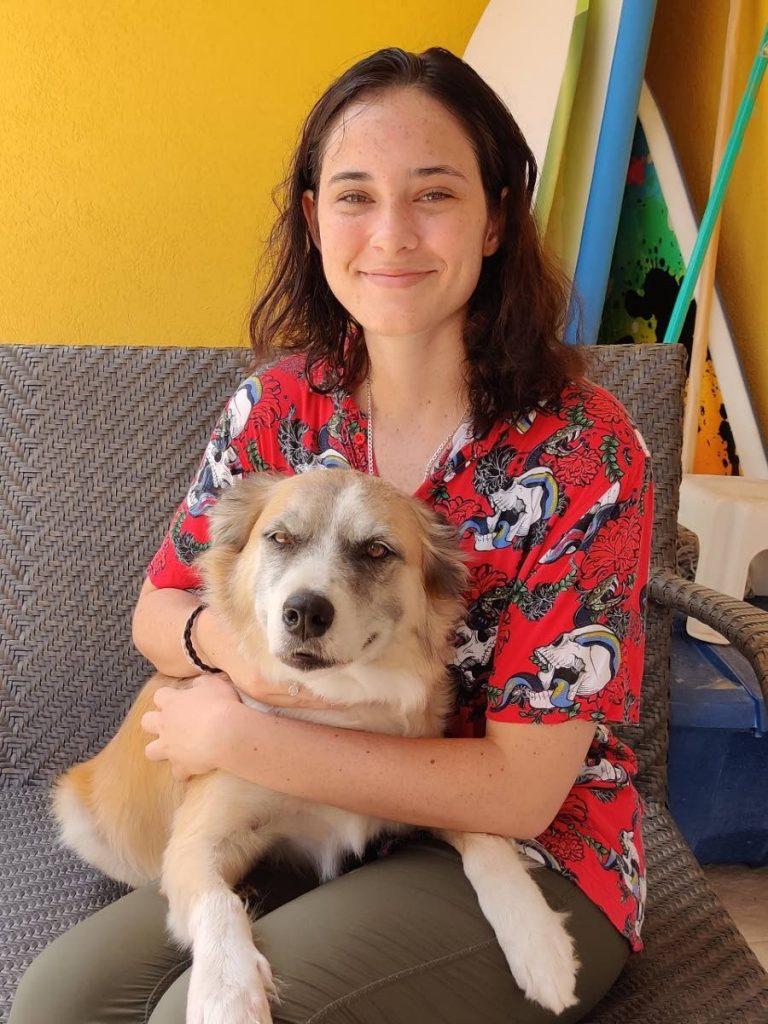 Zoë Lowden-Blaber and her dog Buddy.
