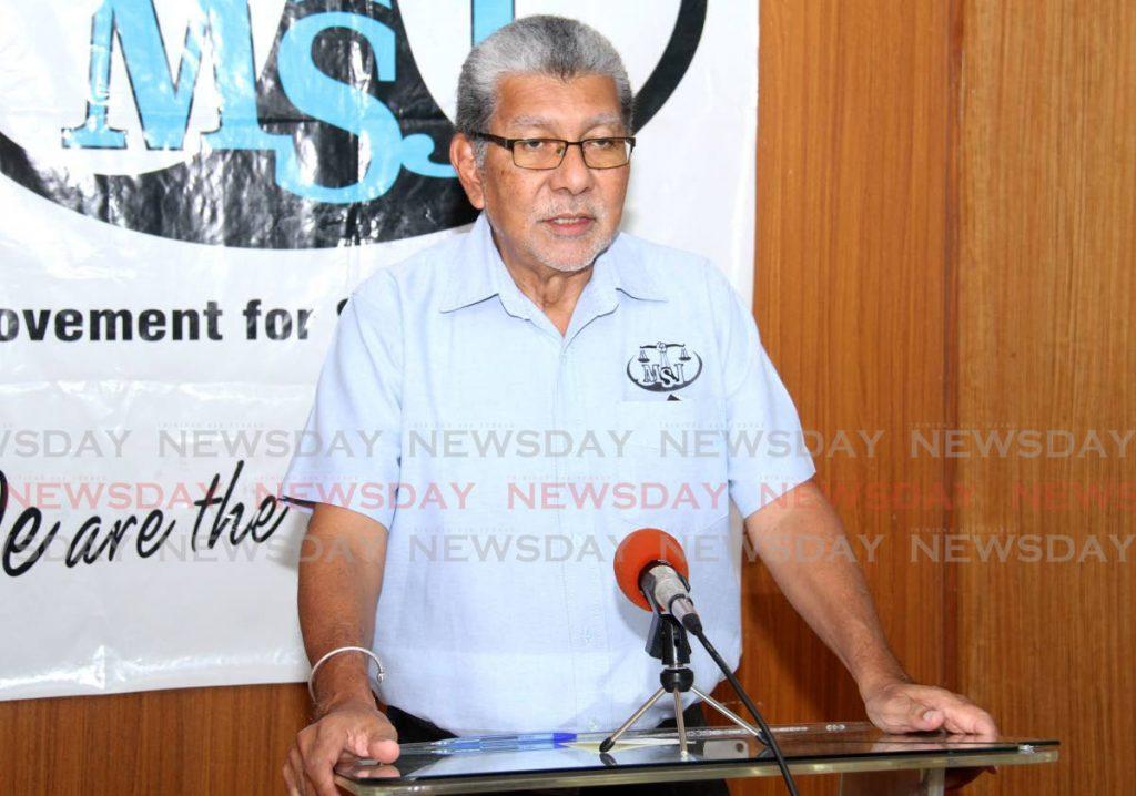 MSJ political leader David Abdula. Photo by Ayanna Kinsale