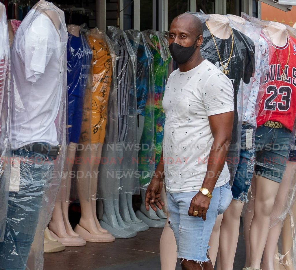 Anthony Durham, owner of Gold Teeth Fashion, Canaan is unhappy with the latest anti-covid19 restrictions which will see his business closed until May 23. PHOTO BY DAVID REID  -