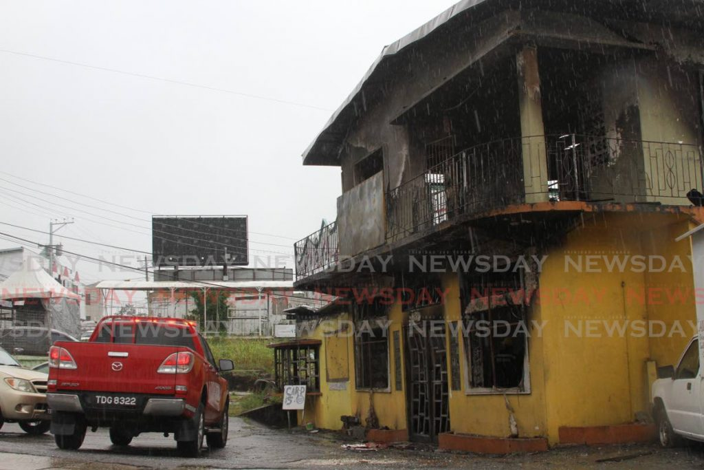 The building that once housed Nam Fong restaurant on Cipero Street, San Fernando, was destroyed by fire early on Tuesday. Photo by Marvin Hamilton