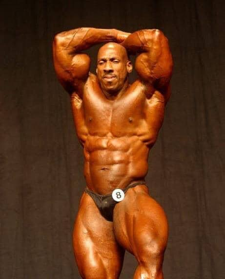 Well-known TT body-builder Lawrence 'The Beast' Marshall.