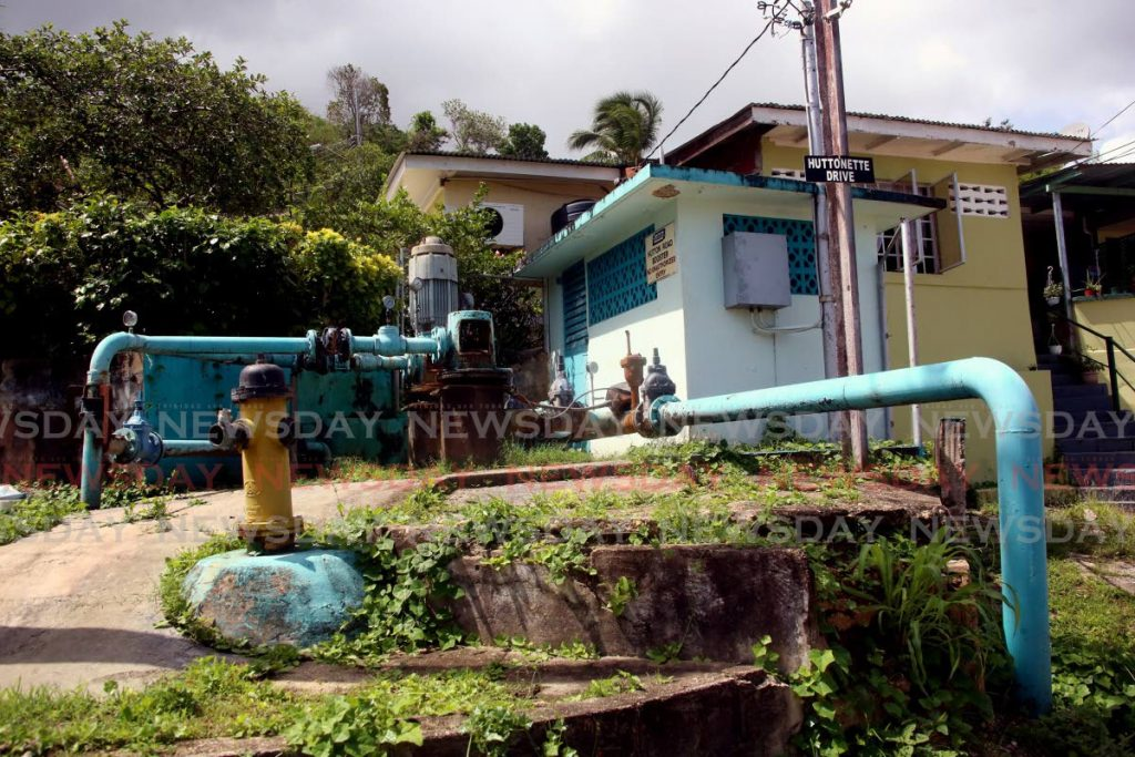 The Hutton Road Booster Station off the St Ann's main road. PHOTO BY SUREASH CHOLAI