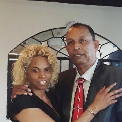 Windrush victim Lynda Mahabir and her husband, Winston -