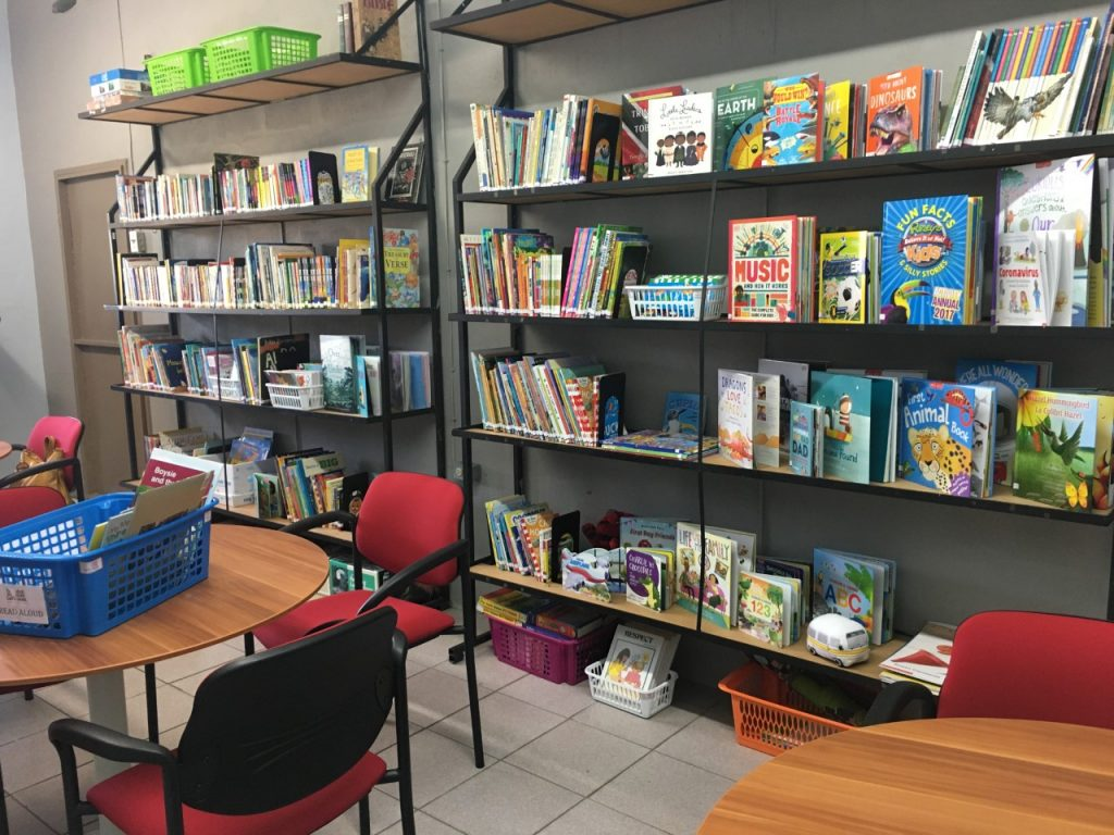 A snapshot of the renovated Boissierre RC Primary School library funded by the Rotary Club of Maraval in partnership with Let's ReadTT and Paperbased Book Shop.