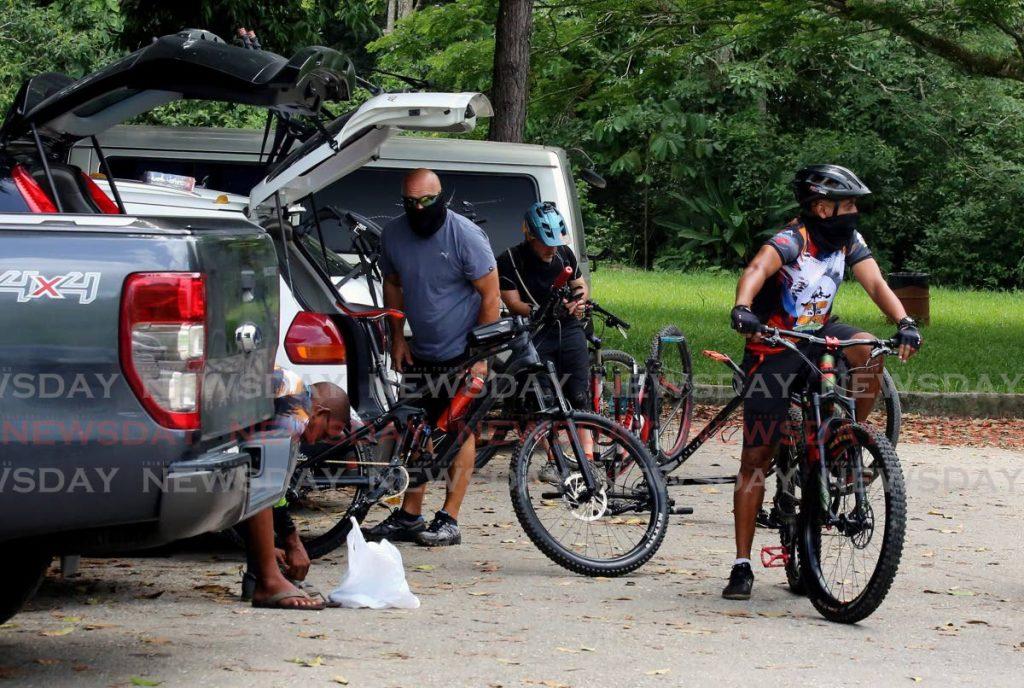 CYCLING: A group of cyclists were at Samaan Park, Tucker Valley Road, Chaguaramas, on early Sunday morning. - SUREASH CHOLAI
