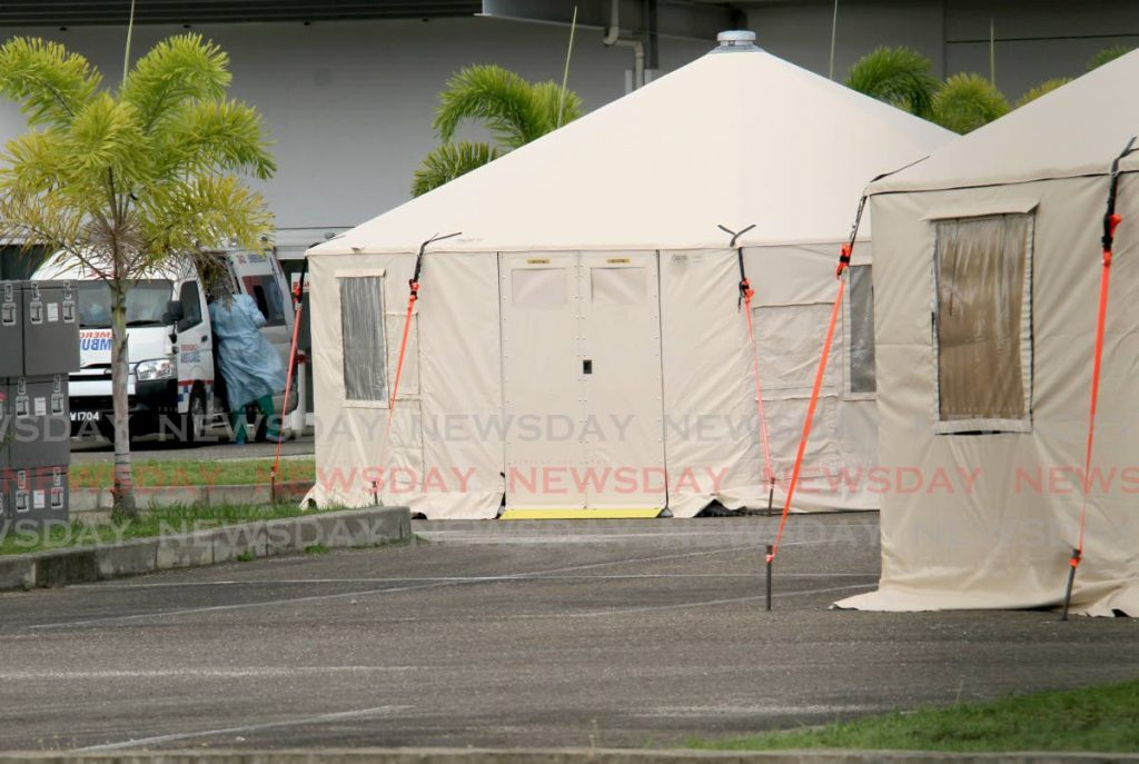 Some of the tents of the field hospital at the Couva Hospital and Multi-Training Facility for covid19 patients. - AYANNA KINSALE