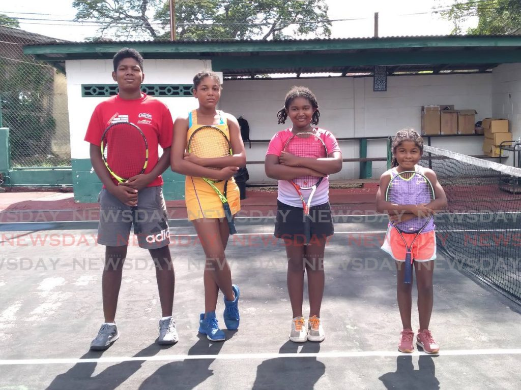 Yeshowah Campbell-Smith and his sisters (left-right) Em-Miryam, Abba and Rukha, at the St Mary's Tennis Courts, St Clair. - Joel Bailey
