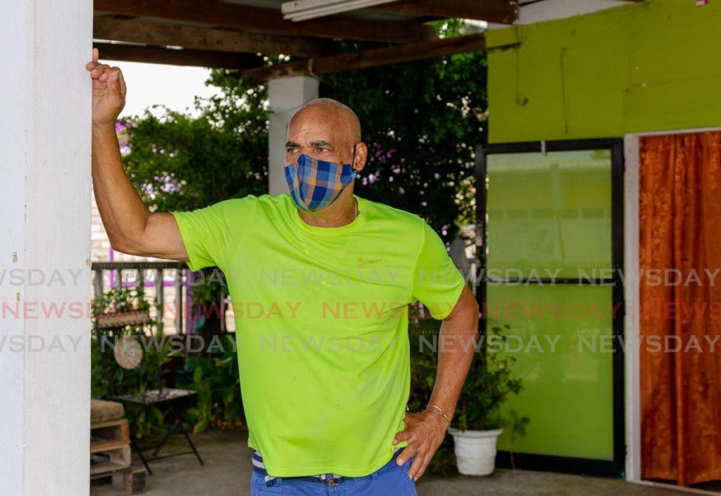 Tobagonian Stephen Crooks lost his wife Diana Cupid-Crooks to covid19 last week.  - DAVID REID