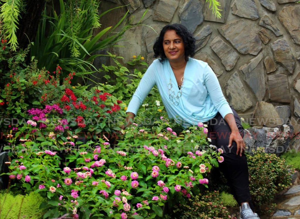 Naima Mohammed at one of her transformed landscape gardens on the compound of The Beauty and Spa on Cornelio Street in Woodbrook - SUREASH CHOLAI