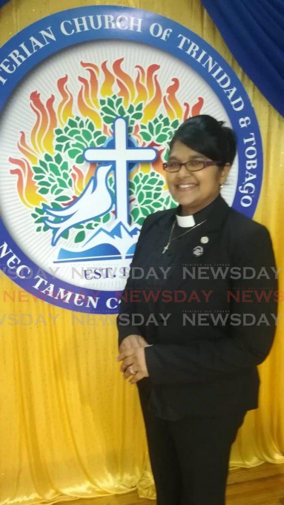 Moderator of the Presbyterian Church of TT  Rev Joy Abdul-Mohan. -