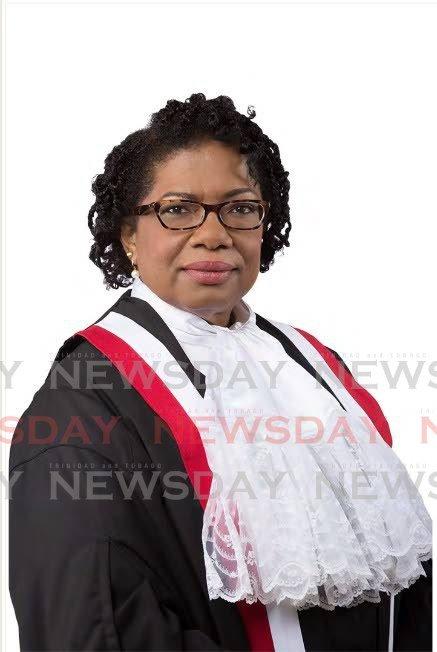 Justice Kathy-Ann Waterman-Latchoo - PHOTO COURTESY THE JUDICIARY