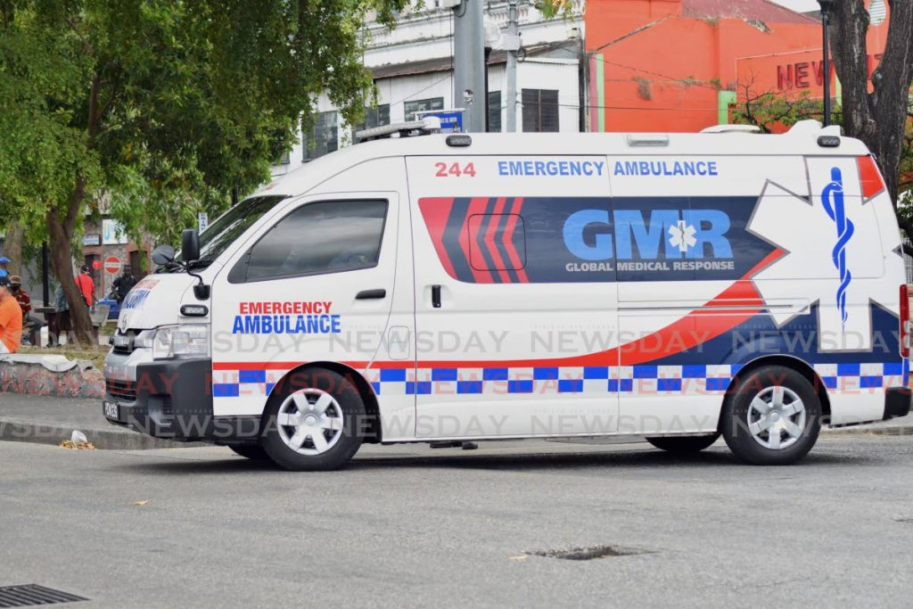 One of the ambulances owned and operated by GMRTT. - Vidya Thurab
