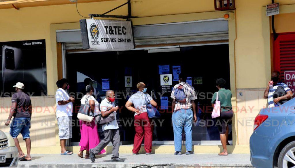 FILE PHOTO: The TTEC service centre on Broadway, Port of Spain. - SUREASH CHOLAI