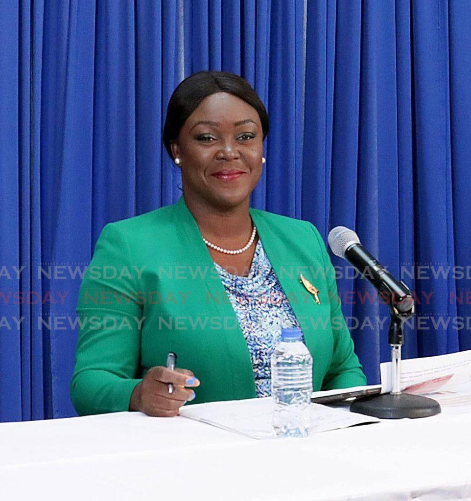 THA Secretary for Health, Wellness and Family Development Tracy Davidson-Celestine. - THA