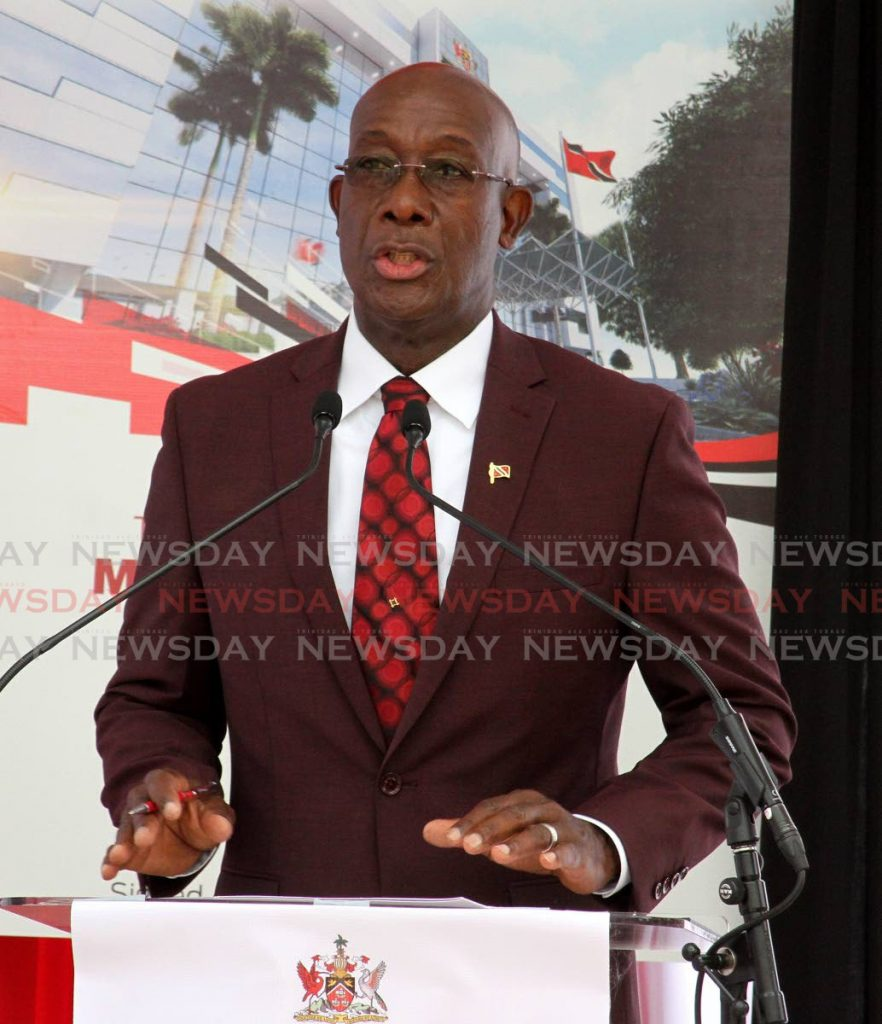 Prime Minister Dr Rowley - Angelo Marcelle