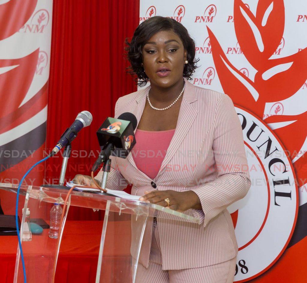 FILE PHOTO: Secretary of Health Tracy Davidson-Celestine. -