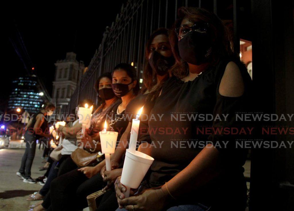 Candlelight vigil for Andrea Bharatt. Photo by AYANNA KINSALE - AYANNA KINSALE